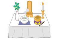 ご自宅に後飾り祭壇を設置